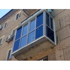 Балкон под ключ с выносом вперед