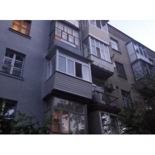 Балкон под ключ с выносом вперед и во все стороны