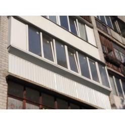 Лоджия 6 м. под ключ с выносом бетонные перила