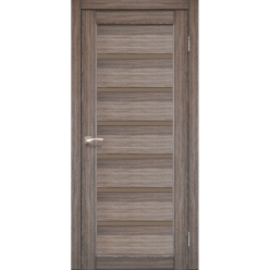 Дверное полотно Porto Deluxe PD-01 Korfad черное стекло или сатин бронза