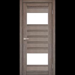 Дверное полотно Porto PR-09 Korfad стекло сатин белый