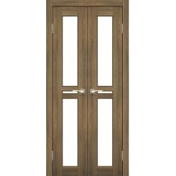 Двустворчатые дверные полотна Milano ML-08.1 Korfad стекло сатин белый