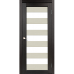 Дверное полотно Porto combi colore PC-04 Korfad стекло сатин белый