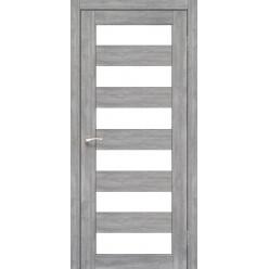 Дверное полотно Porto PR-04.1 Korfad стекло сатин белый