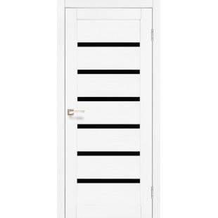 Дверное полотно Porto Deluxe PD-01.1 Korfad черное стекло или сатин бронза
