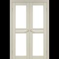 Дверное полотно Milano ML-09 Korfad стекло сатин белый