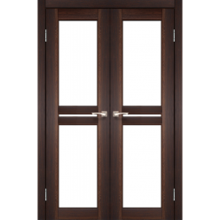 Двустворчатые дверные полотна Milano ML-09 Korfad стекло сатин белый