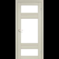 Дверное полотно Tivoli TV-05 Korfad стекло сатин белый