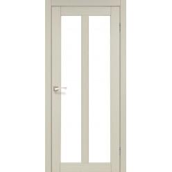 Дверное полотно Torino TR-02 Korfad стекло сатин белый