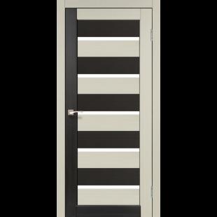 Дверное полотно Porto combi colore PC-05 Korfad стекло сатин белый