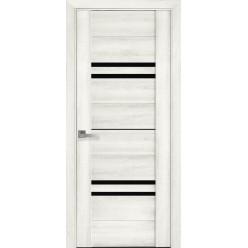 """Дверное полотно Вива """"Ницца"""" стекло BLK, графит"""