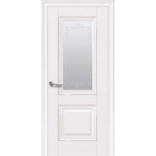 """Дверное полотно """"ЭЛЕГАНТ""""Имидж стекло с молдингом"""