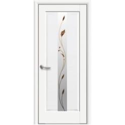 """Дверное полотно """"Маэстра Р"""" Премьера со стеклом сатин Premium+Р1"""