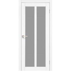 Дверное полотно Torino TR-02.1 Korfad стекло сатин белый