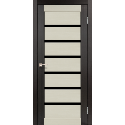 Дверное полотно Porto combi Deluxe PCD-01 Korfad черное стекло