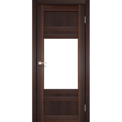 Дверное полотно Tivoli TV-01 Korfad стекло сатин белый
