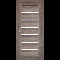 Дверное полотно Porto PR-01 Korfad стекло сатин белый