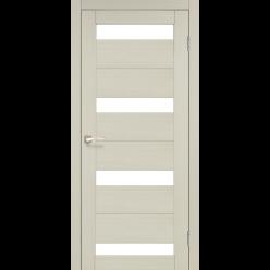 Дверное полотно Porto PR-06 Korfad стекло сатин белый