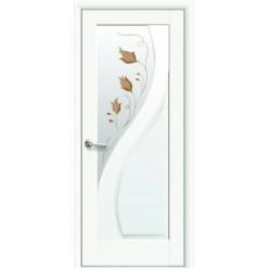 """Дверное полотно """"Маэстра Р"""" Pr (Прима) cо стеклом сатин+ Р1"""