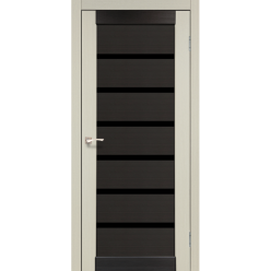 Дверное полотно Porto combi Deluxe PCD-02 Korfad черное стекло