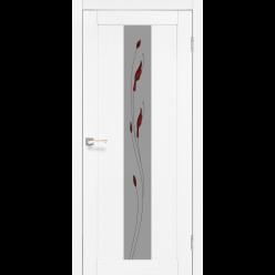 Дверное полотно Porto PR-10.1+М1 Korfad стекло сатин белый