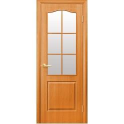 """ПВХ Дверное полотно """"Фортис"""" Классик В-G - п/о со стеклом"""