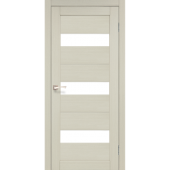 Дверное полотно Porto PR-11 Korfad стекло сатин белый