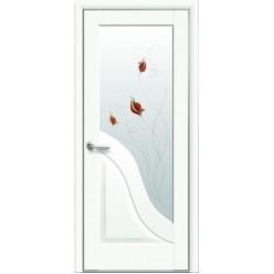 """Дверное полотно """"Маэстра Р"""" Амата со стеклом сатин Premium+Р1"""