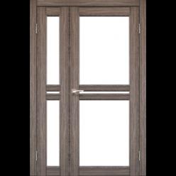 Двустворчатые дверные полотна Milano ML-06 Korfad стекло сатин белый