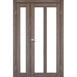 Полуторные дверные полотна Torino TR-04 Korfad стекло сатин белый