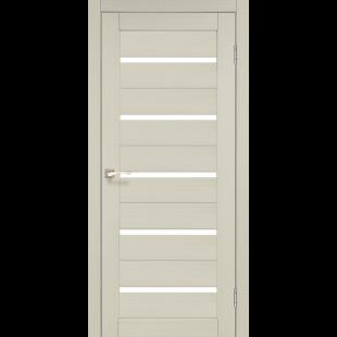 Купить дверное полотно Porto PR-02 Korfad стекло сатин белый