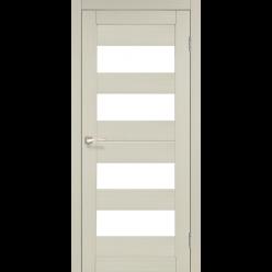 Дверное полотно Porto PR-07 Korfad стекло сатин белый