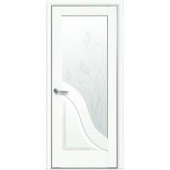 """Дверное полотно """"Маэстра Р"""" Амата со стеклом сатин Premium+Р2"""