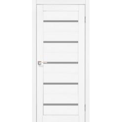 Дверное полотно Porto PR-02.1 Korfad стекло сатин белый