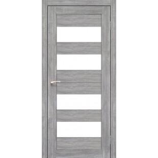 Купить дверное полотно Porto PR-7.1 Korfad стекло сатин белый