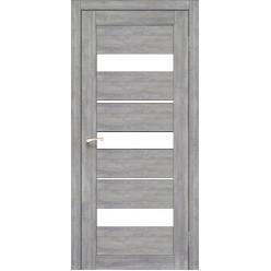 Дверное полотно Porto PR-12.1 Korfad стекло сатин белый