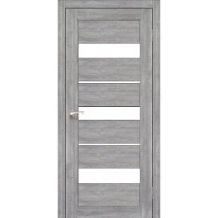 Купить дверное полотно Porto PR-12.1 Korfad стекло сатин белый