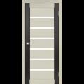 Дверное полотно Porto combi colore PC-01 Korfad стекло сатин белый