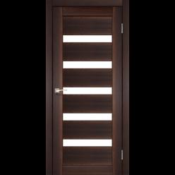 Дверное полотно Porto PR-03 Korfad стекло сатин белый