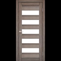 Дверное полотно Porto PR-08 Korfad стекло сатин белый