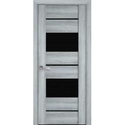 """Дверное полотно Вива """"Валенсия"""" стекло BLK, графит"""