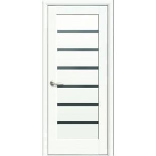 """Дверное полотно """"Ностра"""" L (Линнея)BLK белый матовый"""