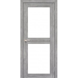 Дверное полотно Milano ML-07.1 Korfad стекло сатин белый