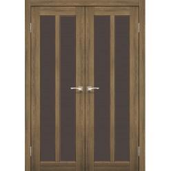 Двустворчатые дверные полотна Torino TR-05.1 Korfad стекло сатин белый