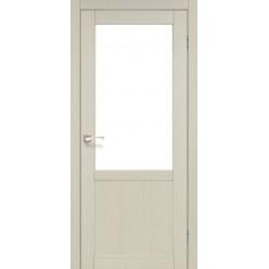 Дверное полотно Palermo PL-02 Korfad стекло сатин белый