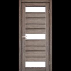 Дверное полотно Porto PR-14 Korfad стекло сатин белый