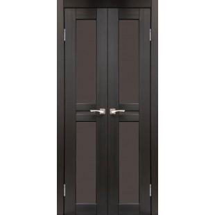 Двустворчатые дверные полотна Milano ML-08 Korfad стекло сатин белый