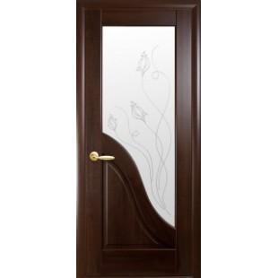 """Дверное полотно """"Маэстра Р"""" Амата со стеклом сатин и рисунком Р2"""