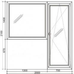 Стандартный балконный пластиковый блок Rehau 60