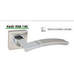 Ручка дверная на квадратной розетке R08.149-AL-SN/CP